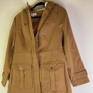 Denim & Co Anorak Jacket Sherpa Lined Hood Women'